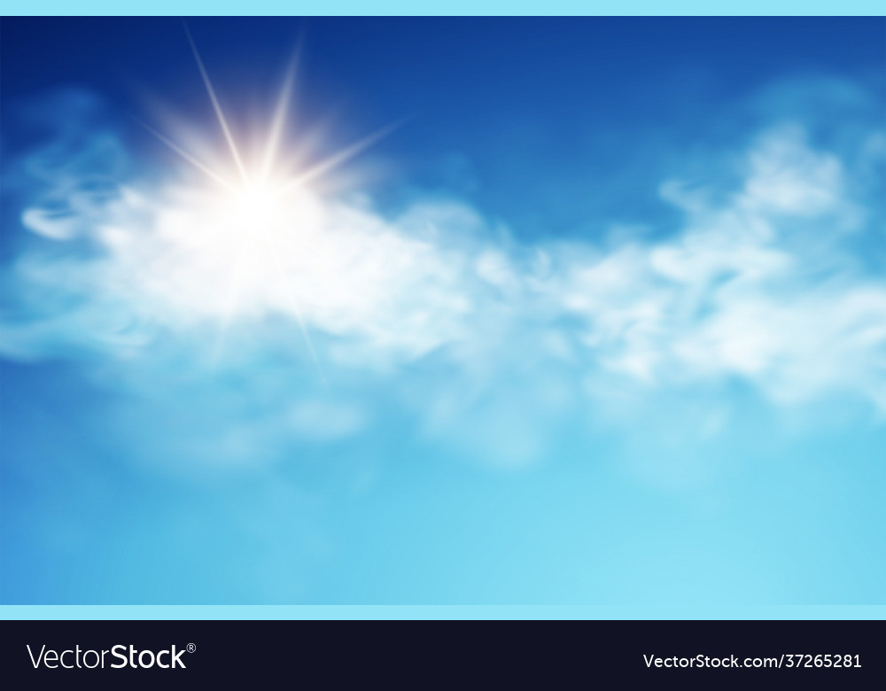 Realistic sky template with transparent cloud