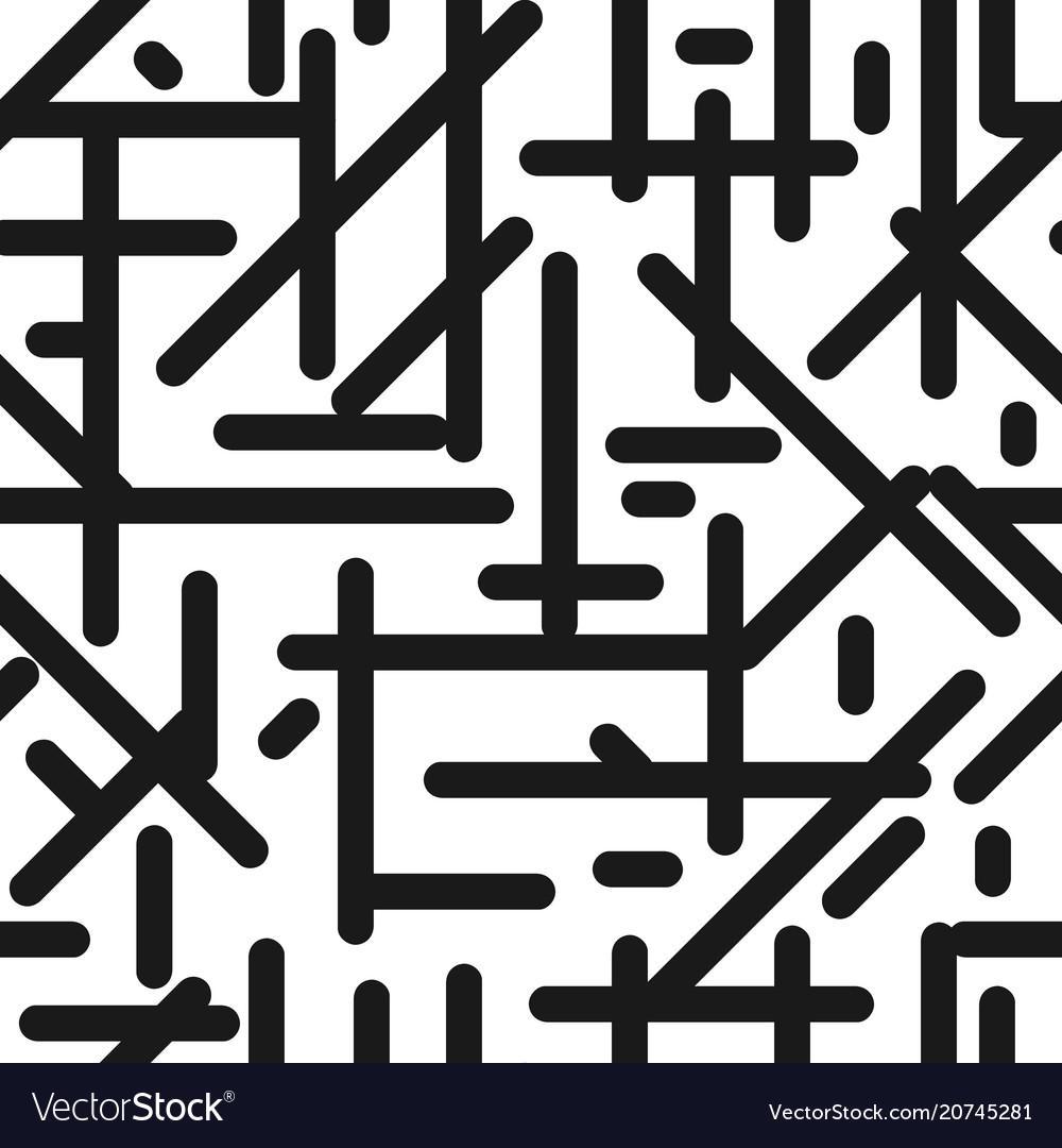Seamless diagonal line pattern monochrome stripes vector image