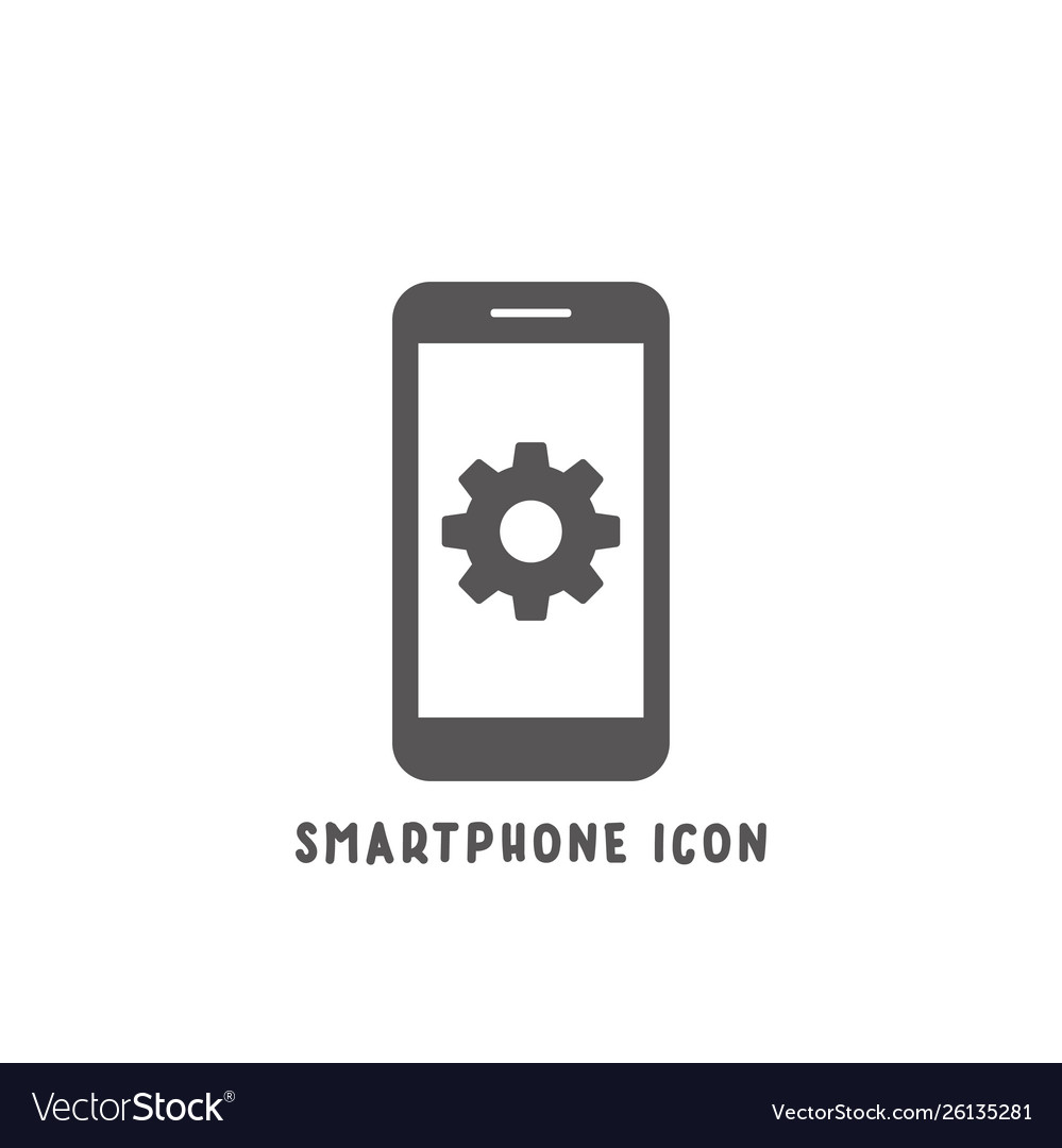 Smartphone icon simple flat style