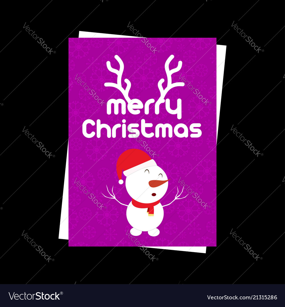 Christmas card with snow flakes pattern and