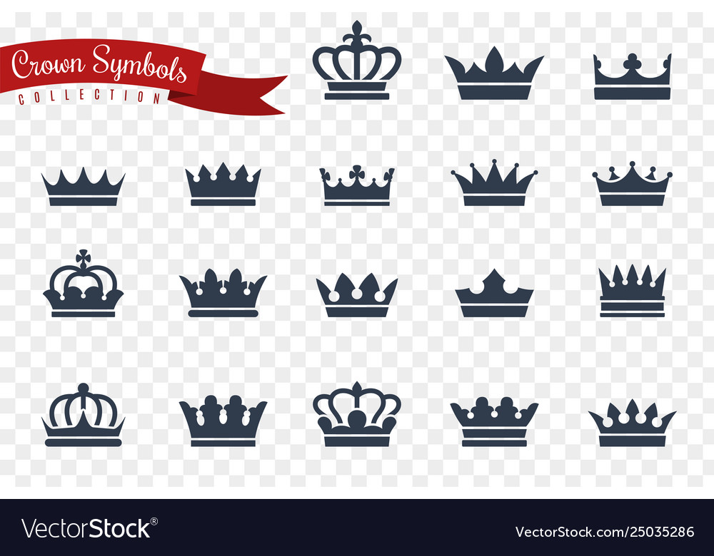 Crown symbols king queen crowns monarch imperial
