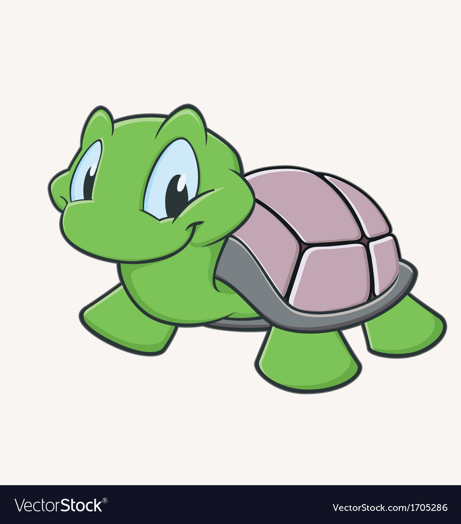 Cute Turtle Royalty Free Vector Image - VectorStock
