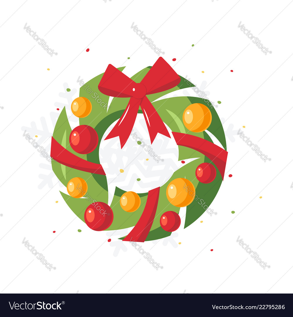 Simple christmas design in flat style