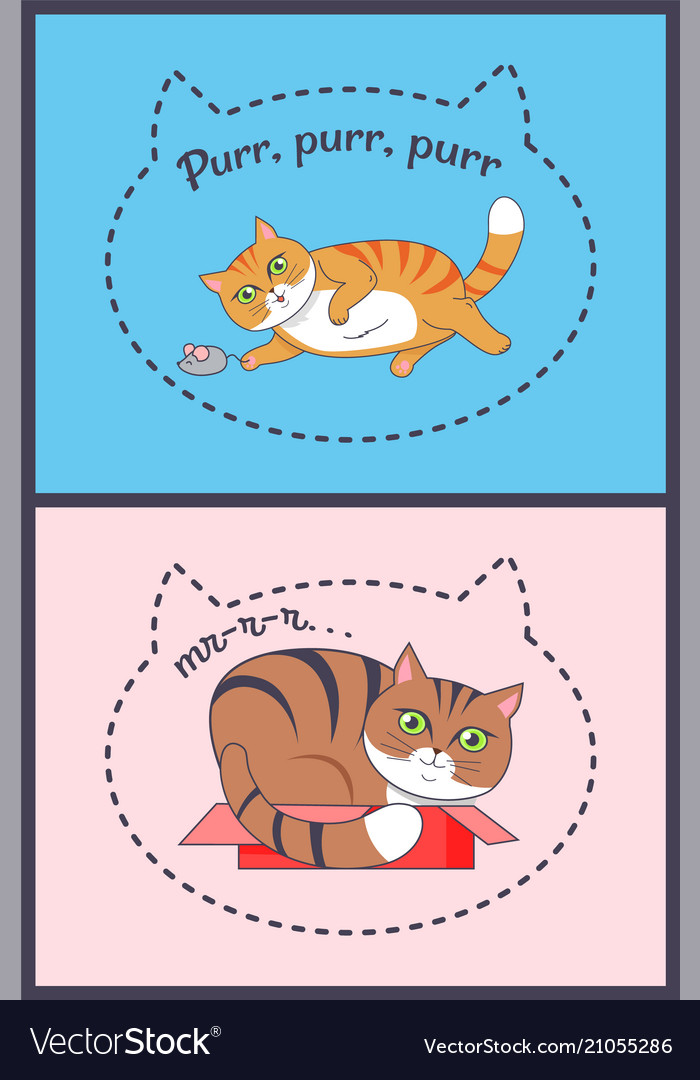 Two posters with nice cats