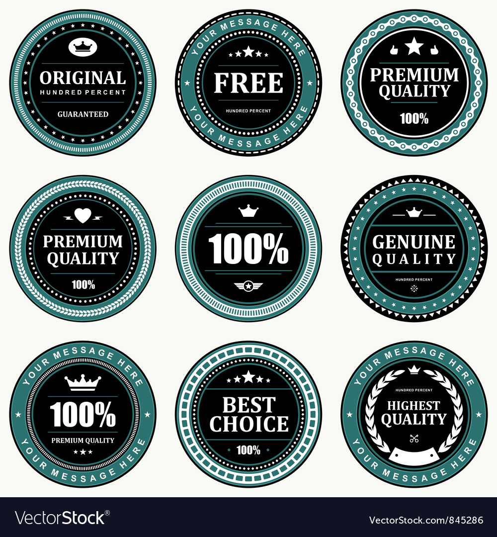 Vintage signs and labels vector image