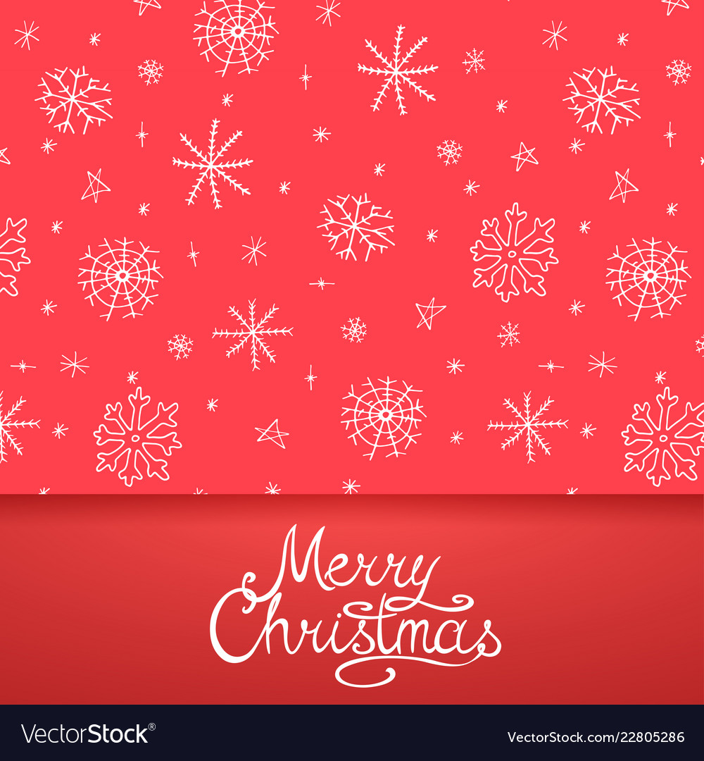Xmas greeting card - calligraphy lettering
