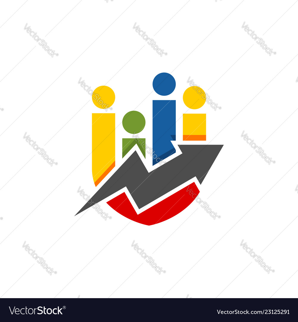 Abstract colorful shield shape financial logo