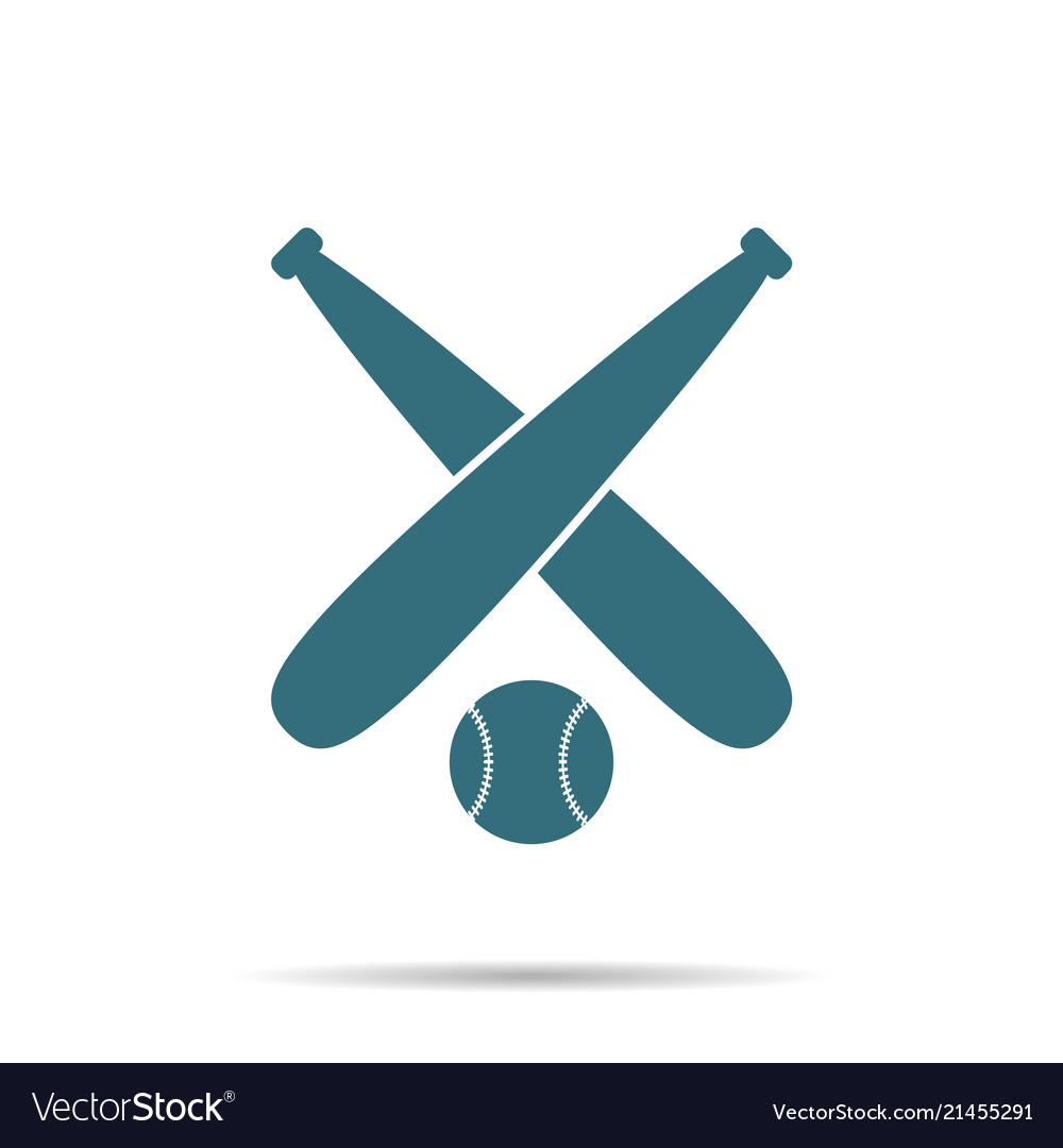 Blue baseball ball icon isolated on background mo