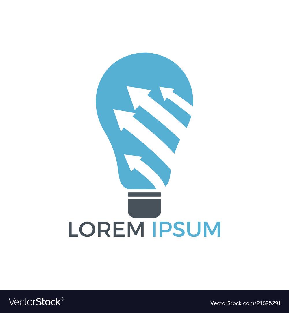 Bulb lamp with arrow logo design
