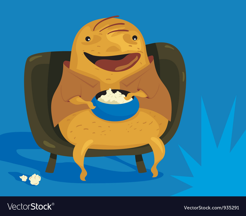 Couch Potato vector image