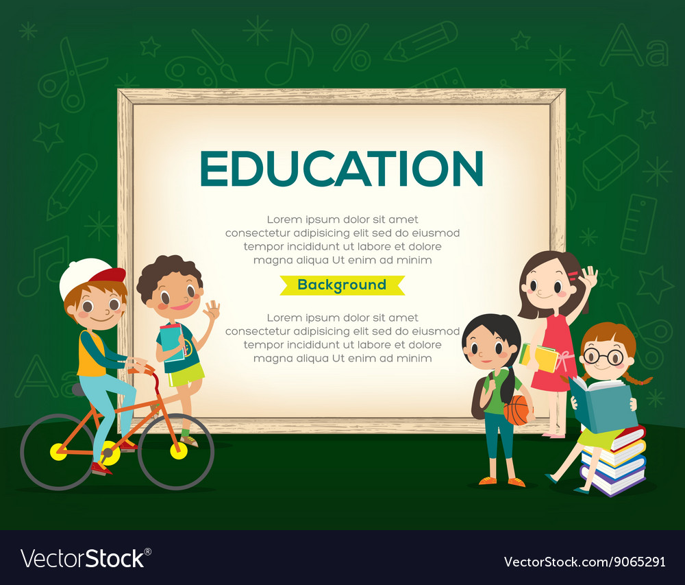 Group kids education background