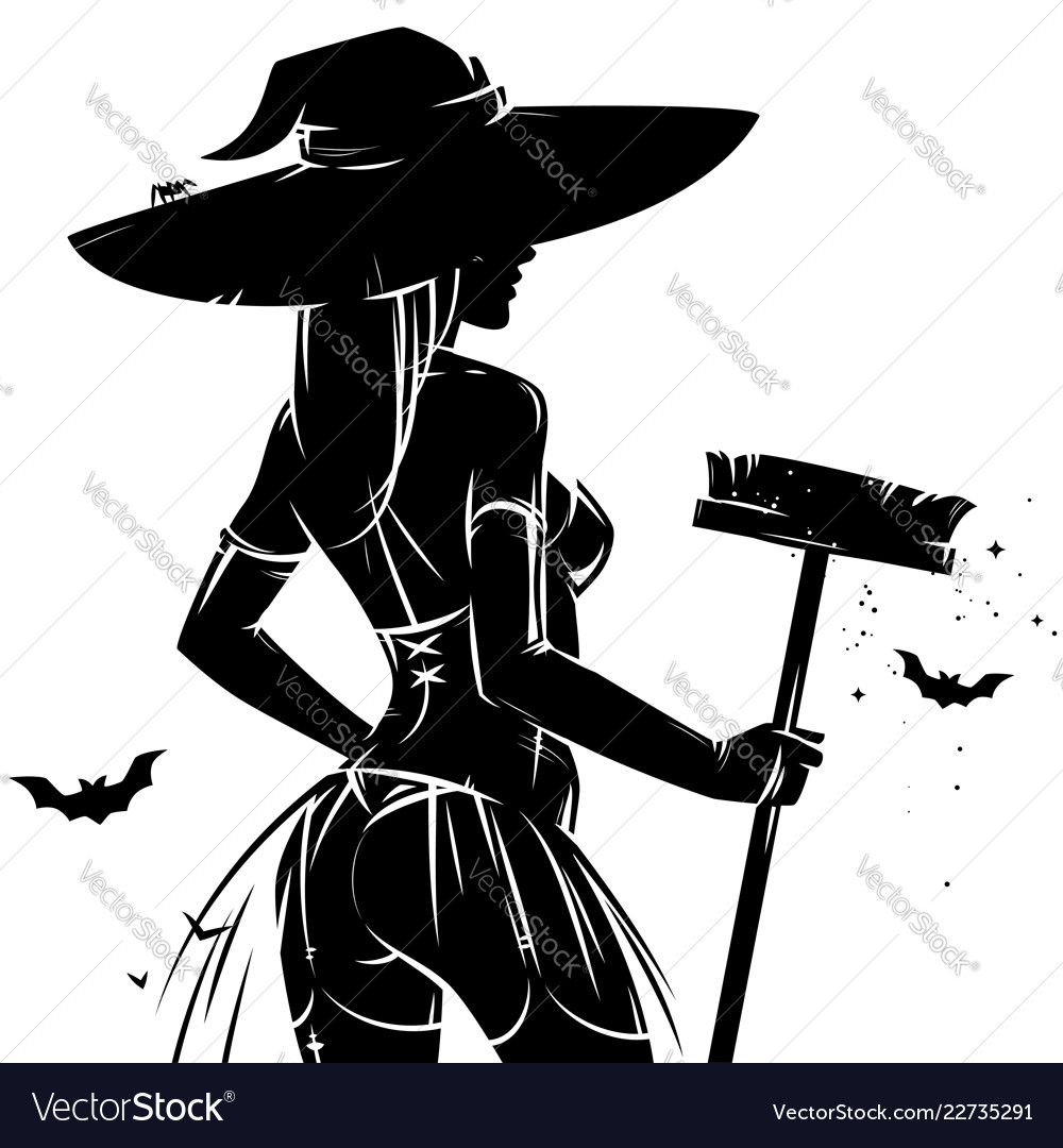 Halloween pin-up witch