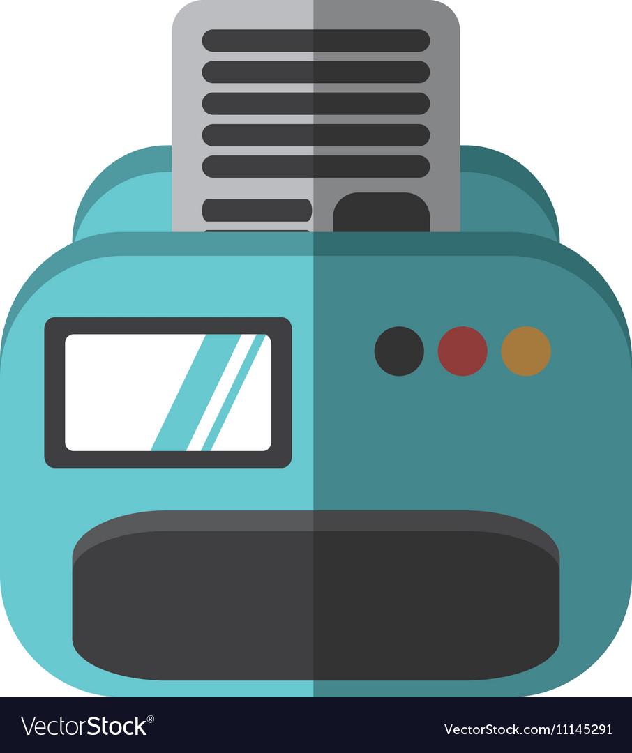 Printer document isolated icon
