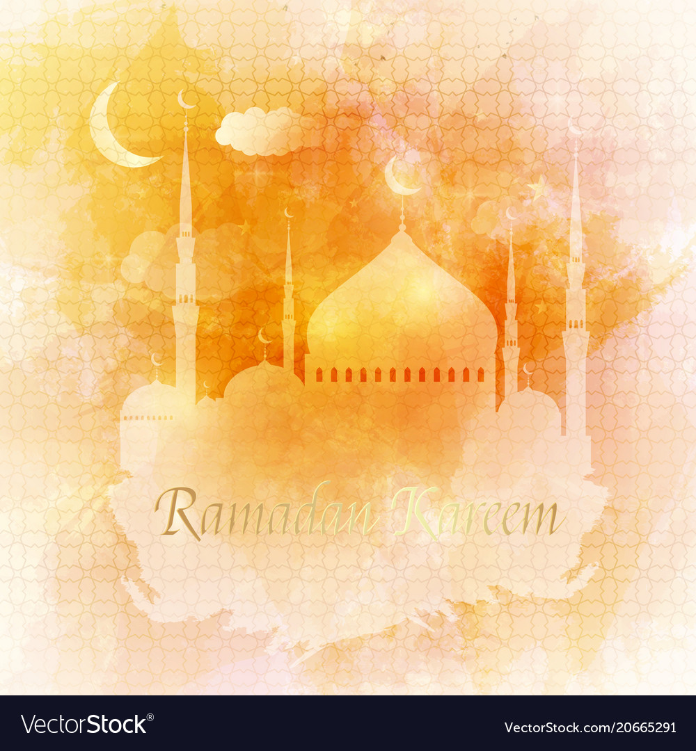 Ramadan kareem arabic greeting card islamic vector image m4hsunfo