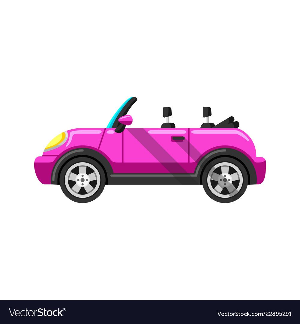 Stylized pink convertible sports car image