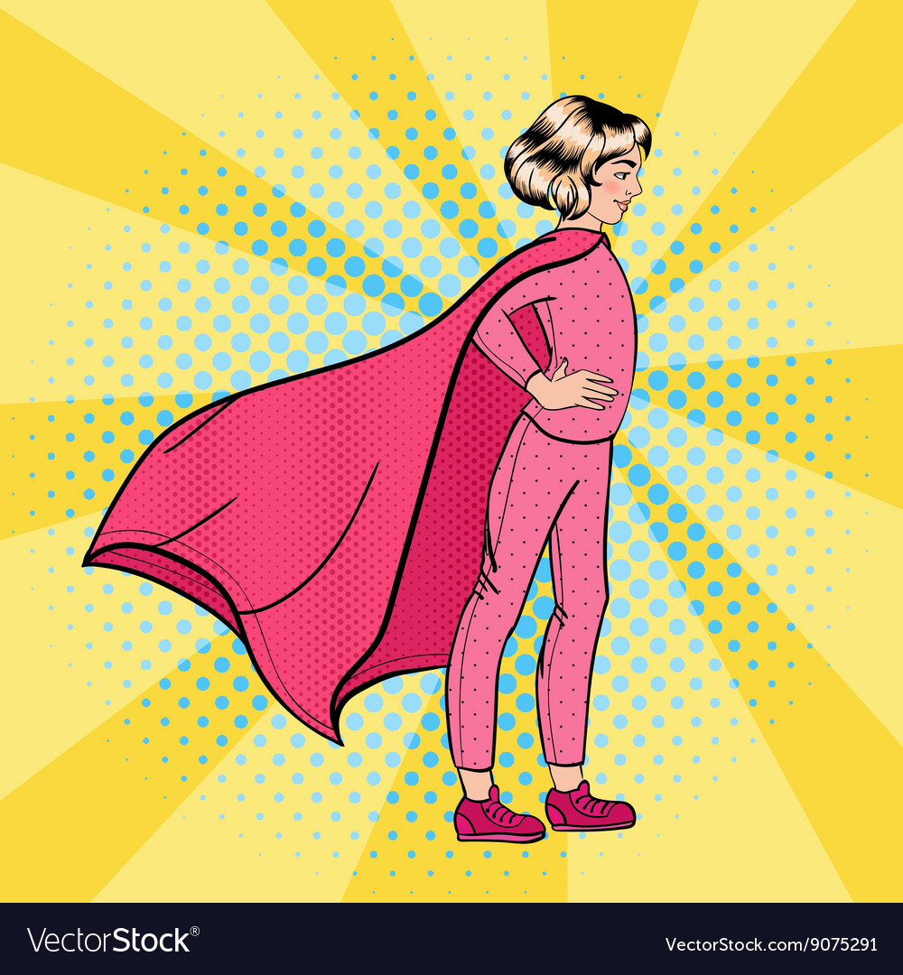 Super Girl Girl Super Hero Supergirl Standing vector image