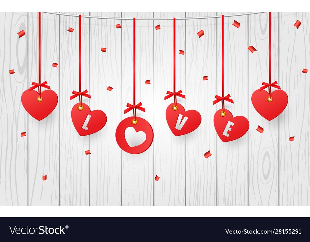 Valentines decorative hearts