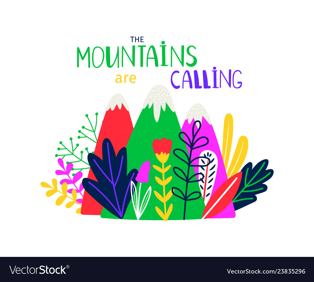Abstract colored mountain t-shirt design