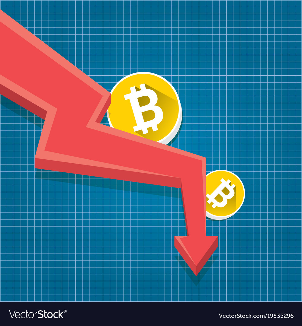 Bitcoin market crash graph on blueprint royalty free vector bitcoin market crash graph on blueprint vector image malvernweather Gallery