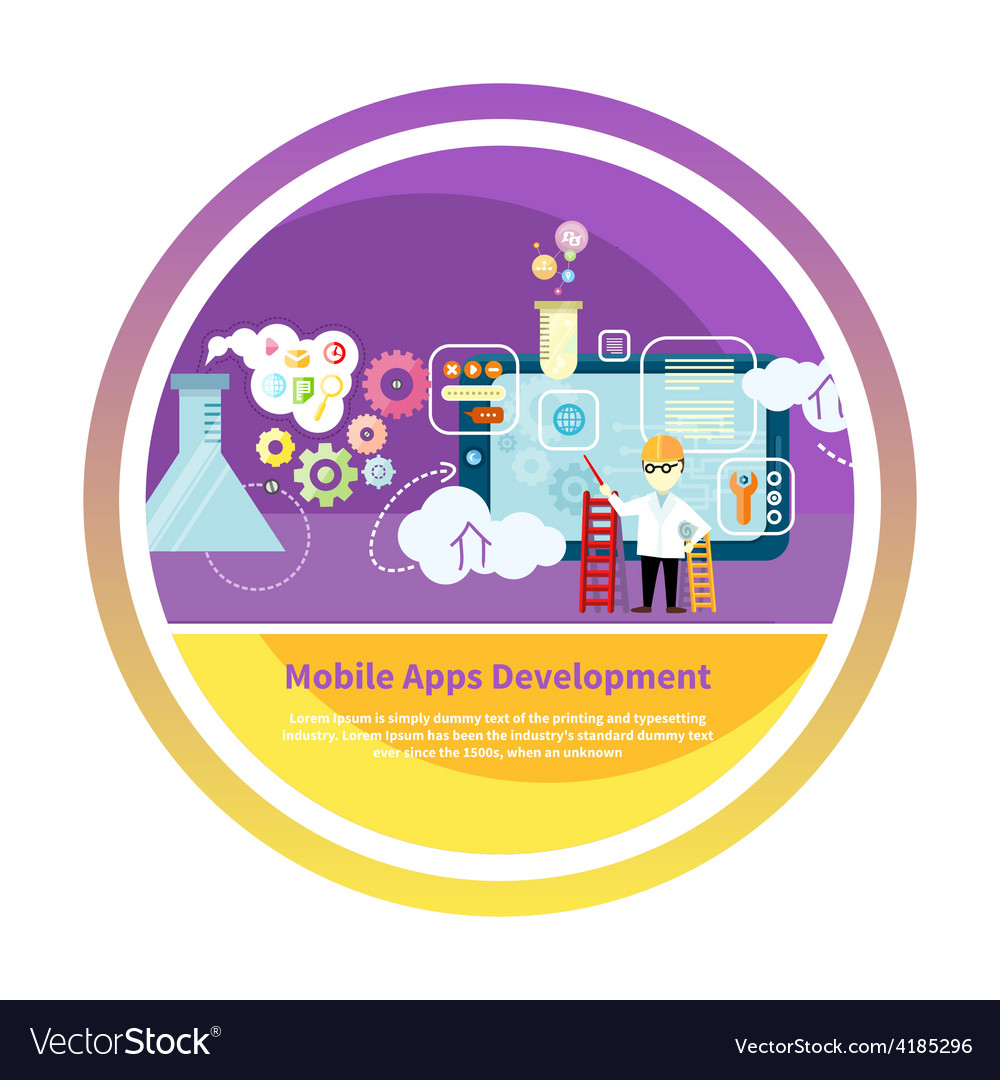 Development mobile apps vector image