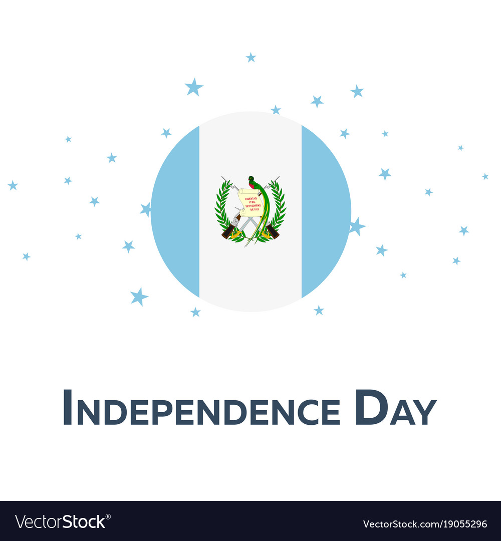 Independence day of guatemala patriotic banner