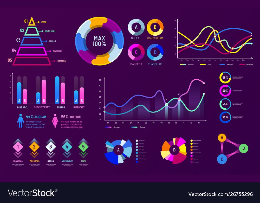 Infographic chart graphics diagram charts data