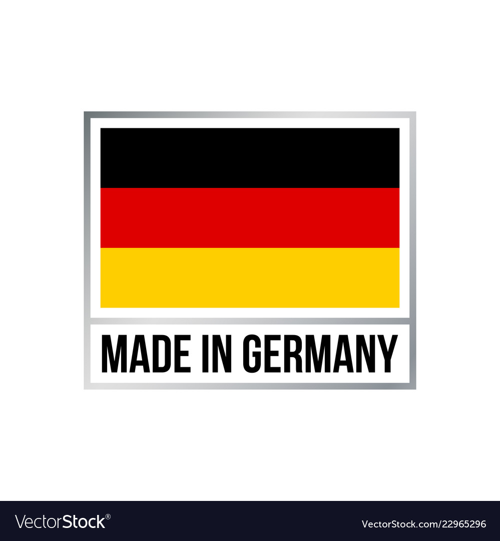Made in germany icon with german flag