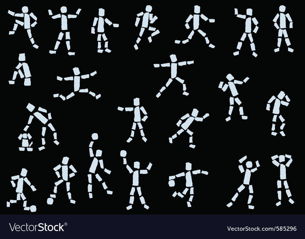 Paper people vector image