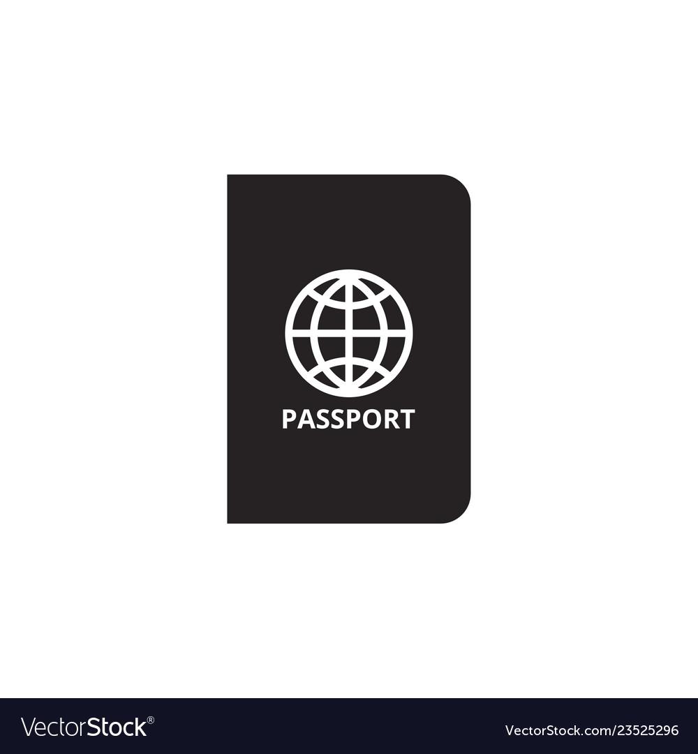 Passport icon graphic design template