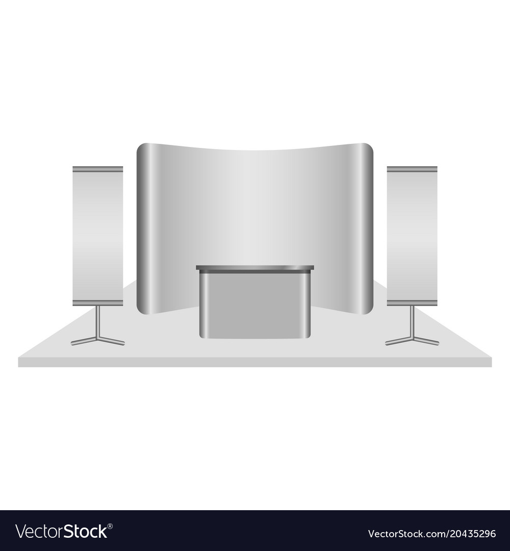 Reception Desk Mockup Realistic Style Vector Image