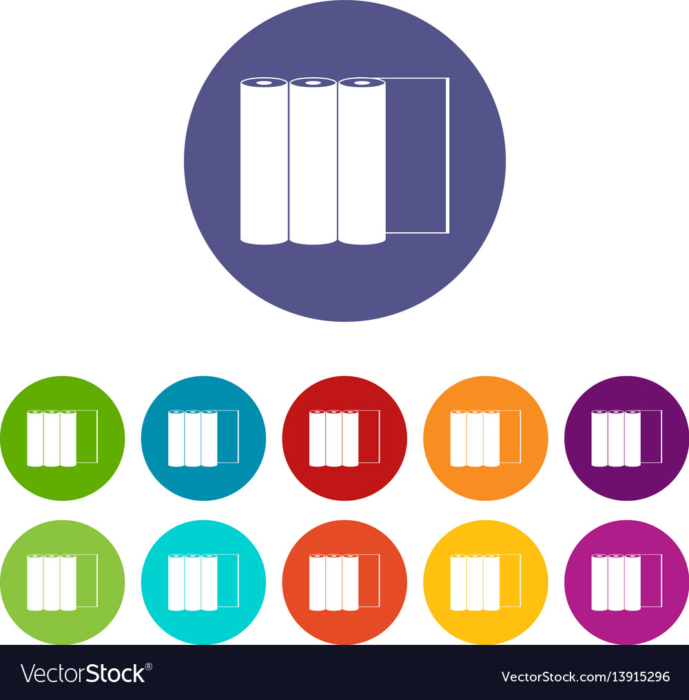 Rolls of paper set icons vector image