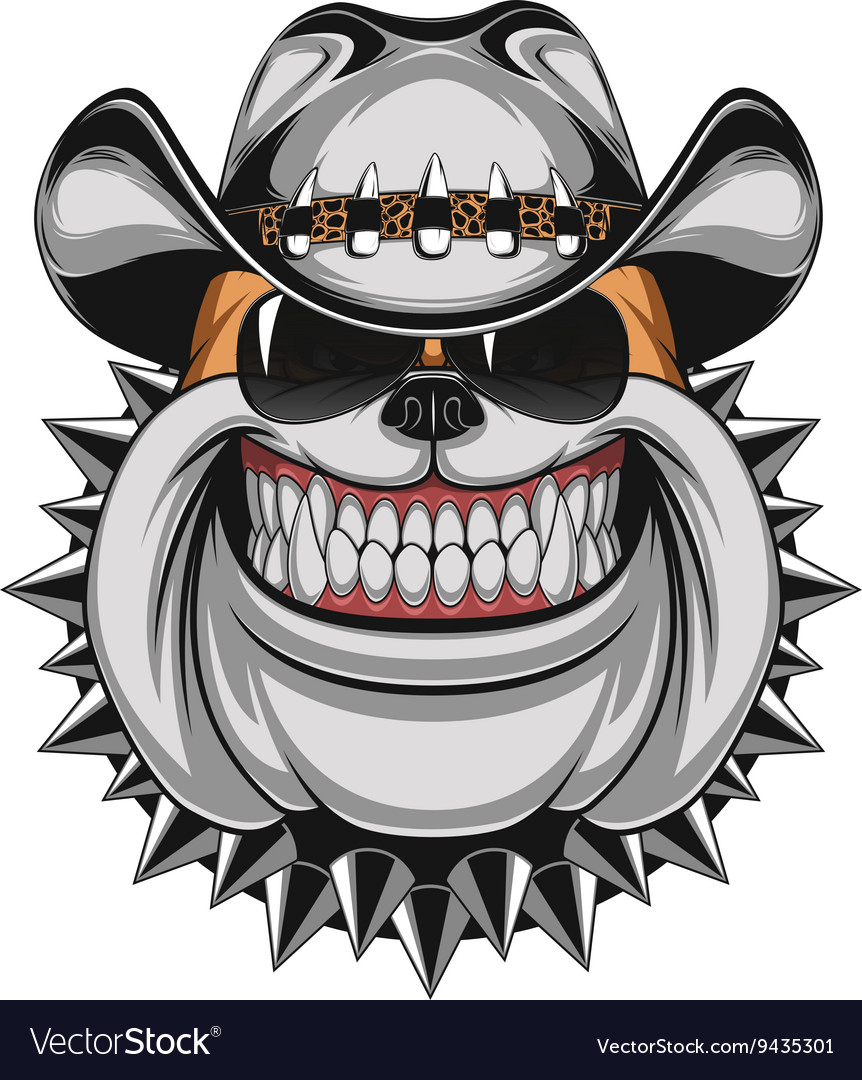 Bulldog In A Cowboy Hat Royalty Free Vector Image