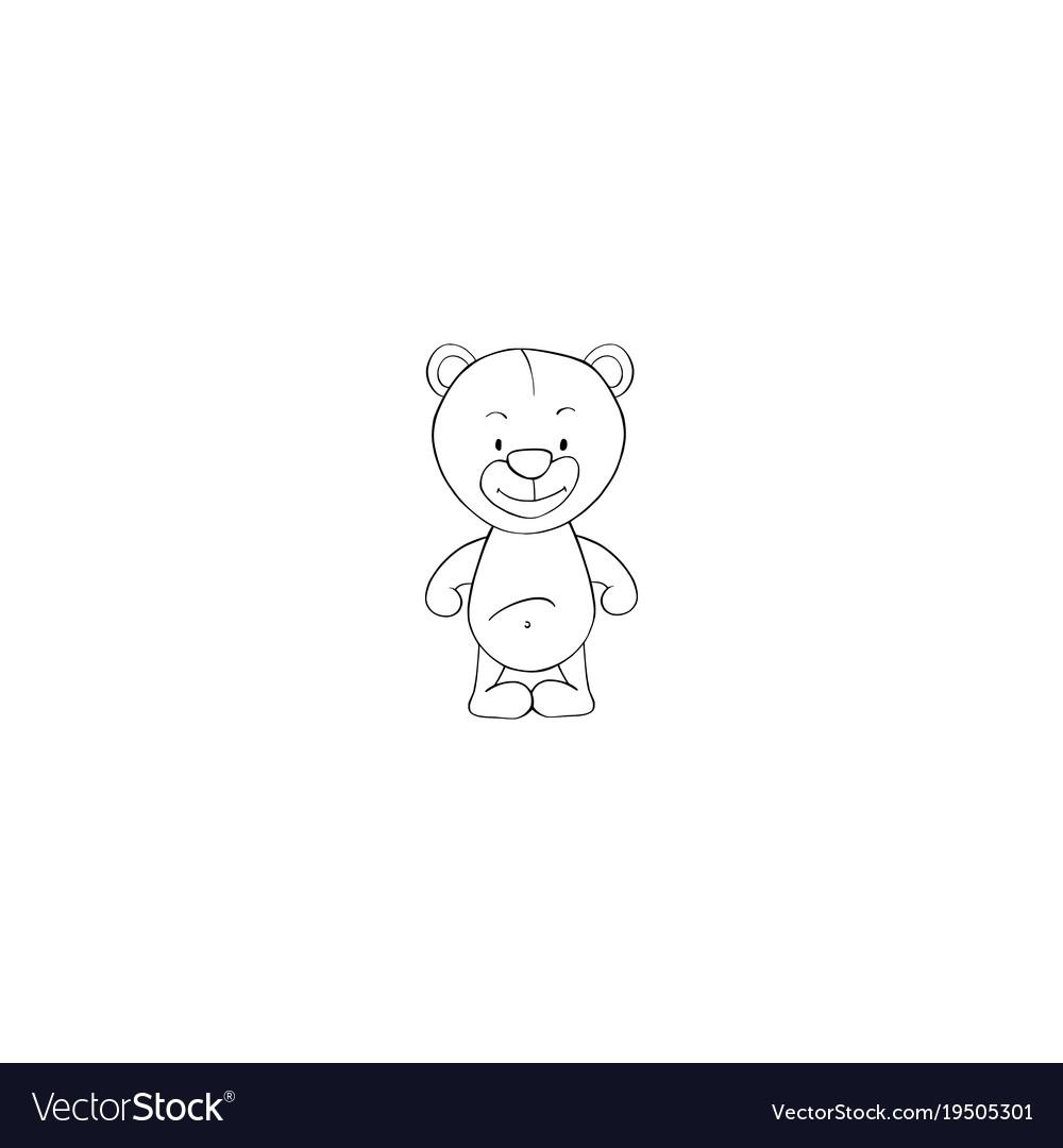 Cartoon bear icon