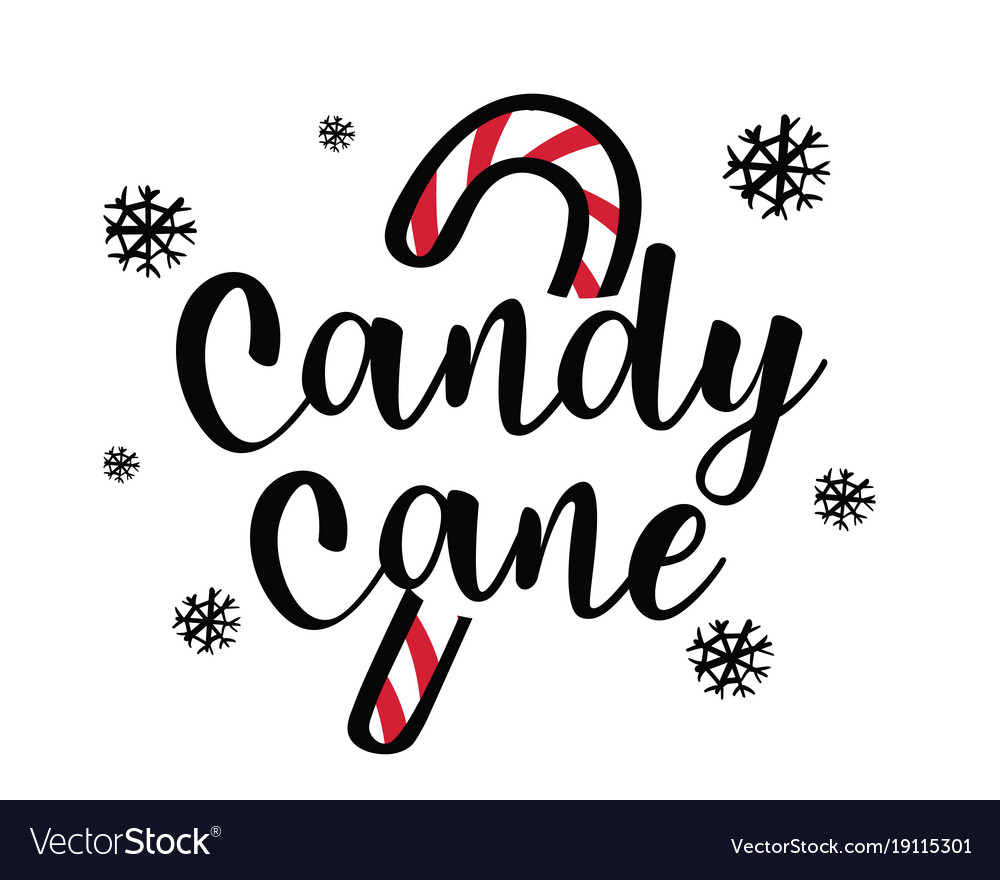 christmas theme candy with candy cane royalty free vector