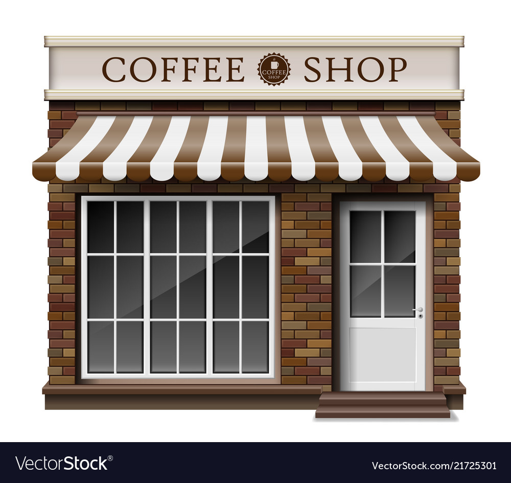 Exterior coffee boutique shop or cafe brick
