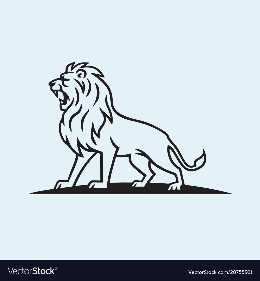 Lion logo mascot template