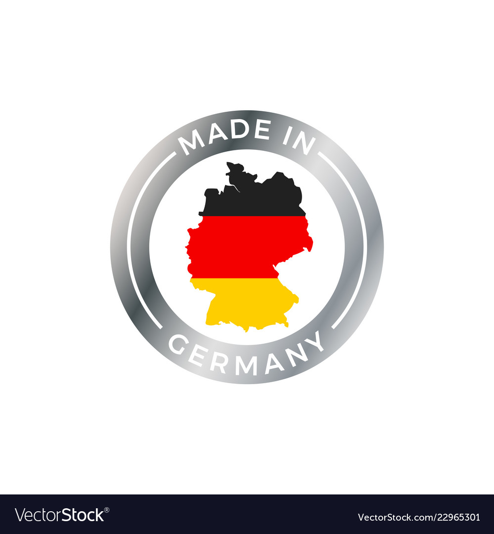 Made in germany icon with german flag map badge German Flag Map on german flags of the world, germany map, state flags map, rhine river map, england map, german stereotypes, german world war 1 map, german state flags,