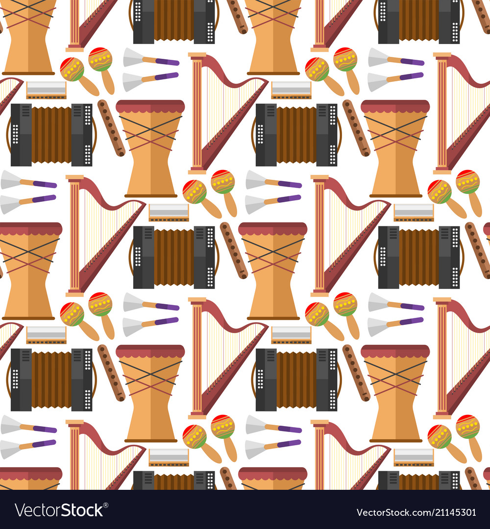Music production seamless pattern background