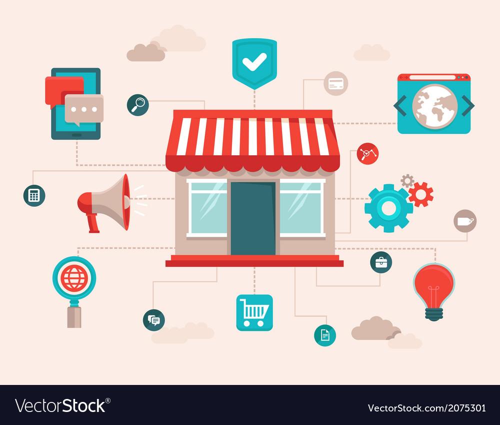 Online shop infographic