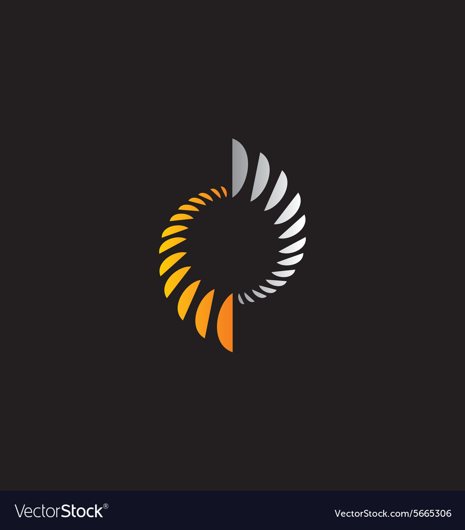 Abstract circle science technology logo