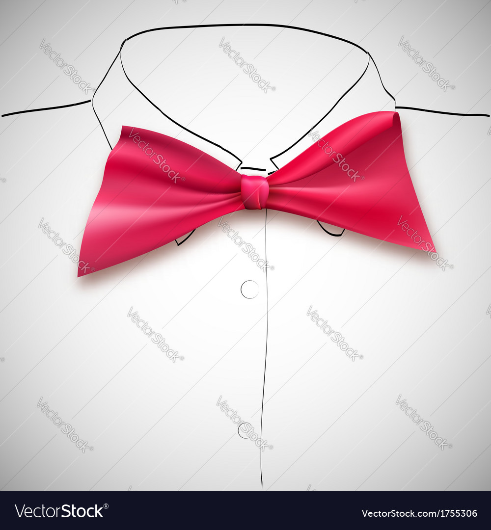 Bow tie on a background sketch the shirt