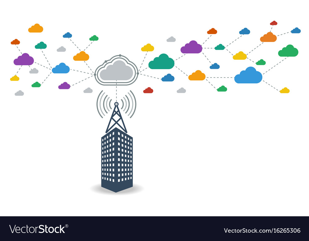 Business connecting to cloud computing data