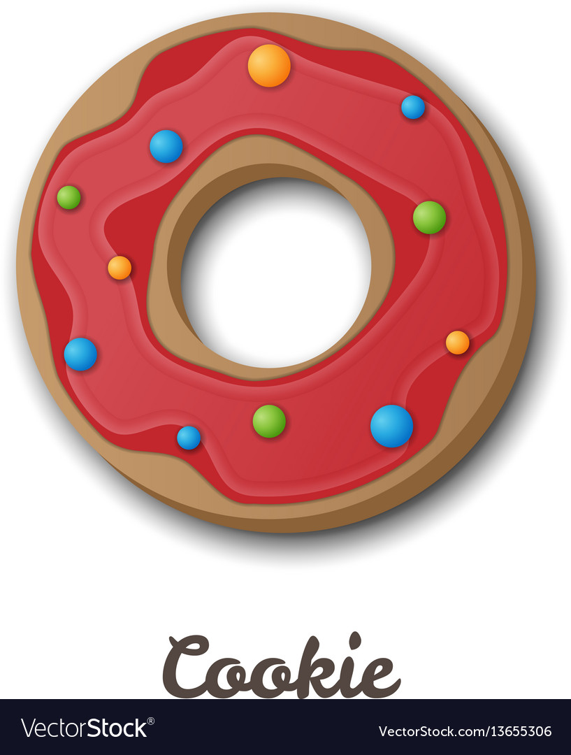 Cookie vector image