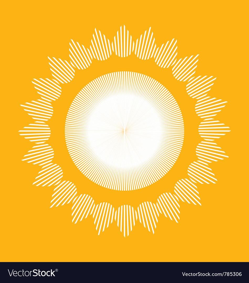 Folk village sun vector image