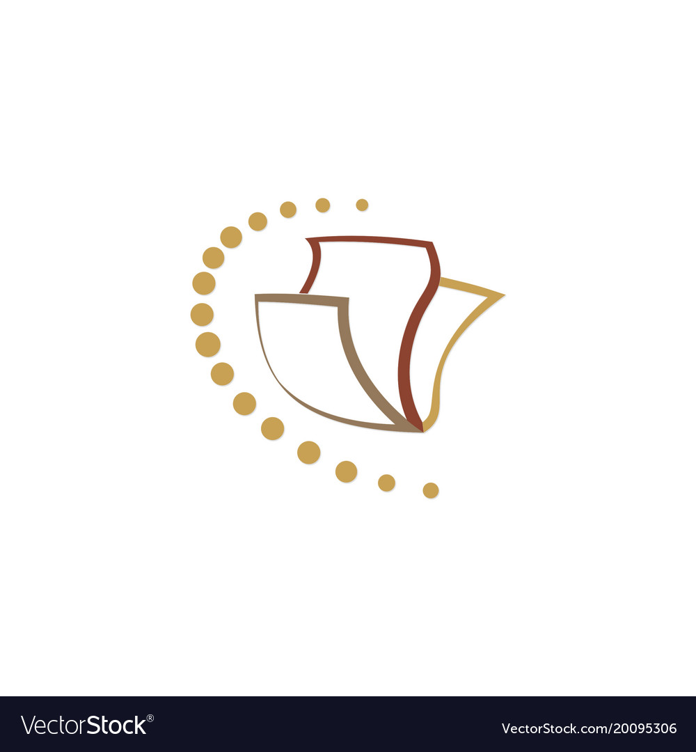 Paper abstract data logo