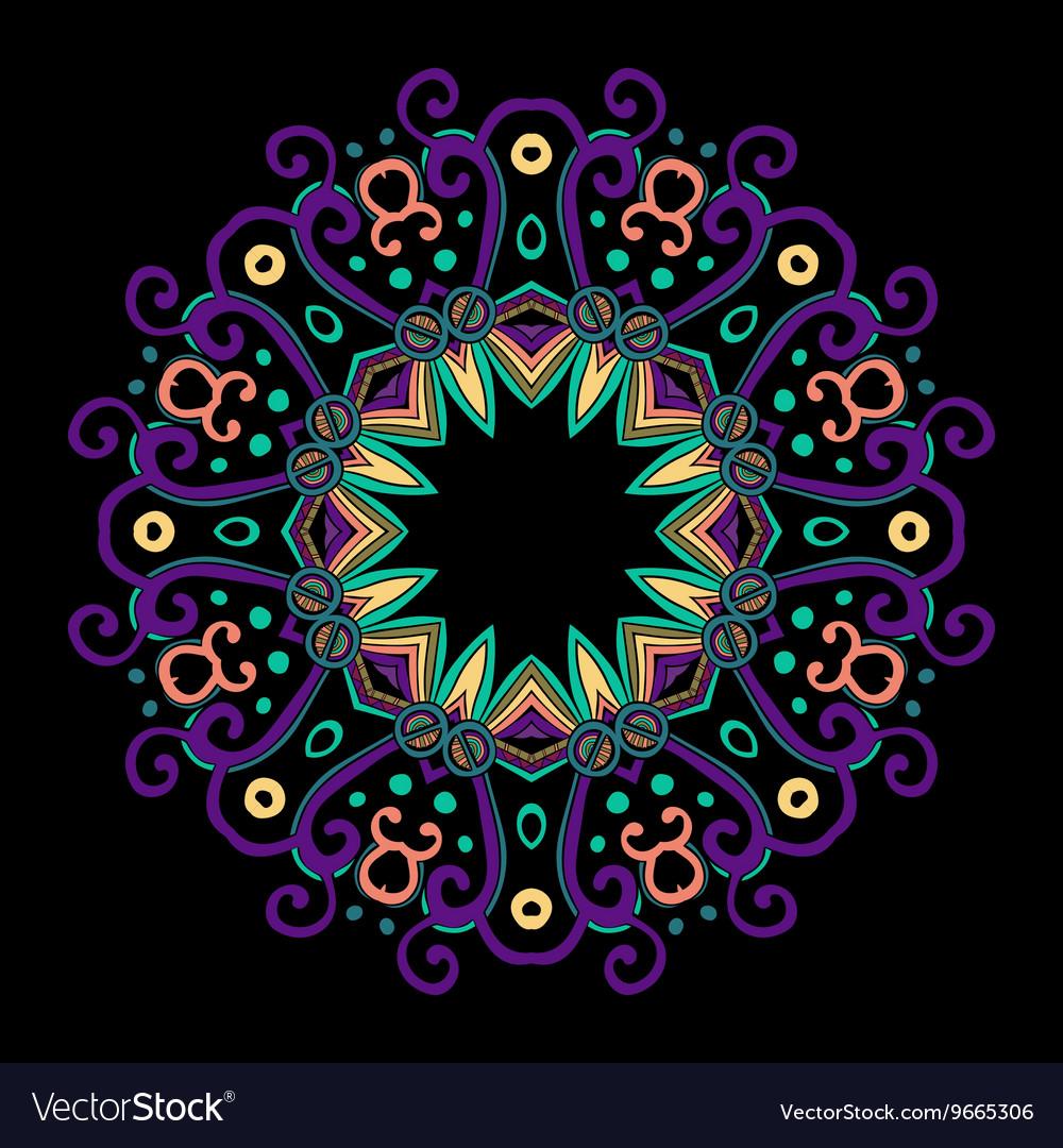 Round Mandala Color Dark 2