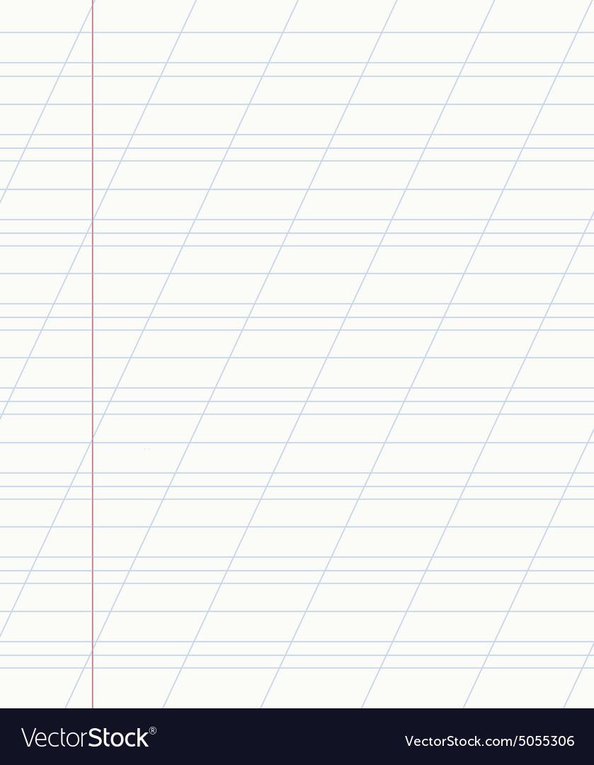 School notebook line