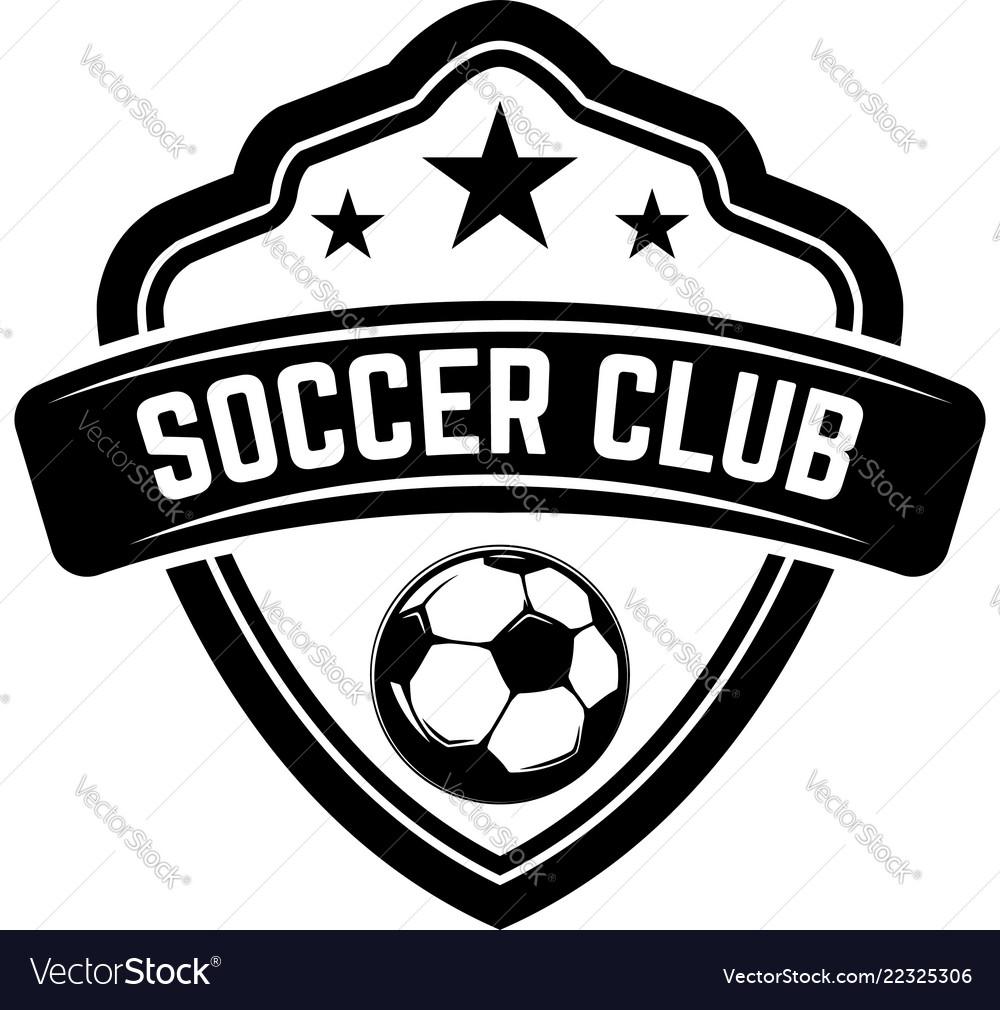 soccer football emblems design element for logo vector image  vectorstock