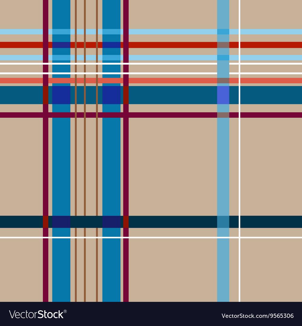 Tartan beige seamless pattern vector image