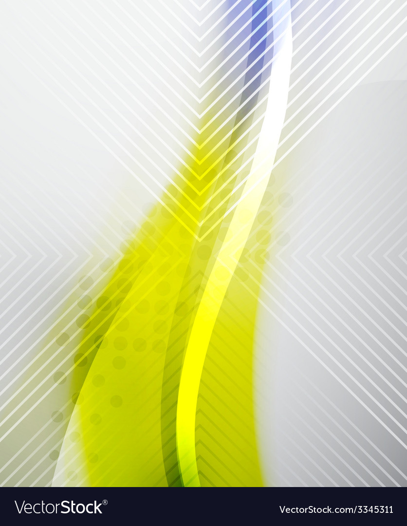 Abstract Background - Yellow shiny blurred wave vector image